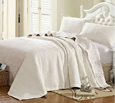 unique white embroidery quilting quilts fashion bed cover cotton ... & plush american patchwork quilting 3pcs cotton quilt Bedding set summer cool  solid color bed cover king size water wash bedspread Adamdwight.com