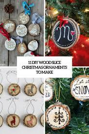 11 diy wood slice christmas ornaments to make
