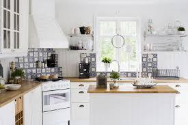 contemporary kitchen furniture. Sweden, Contemporary Kitchen With White Furniture