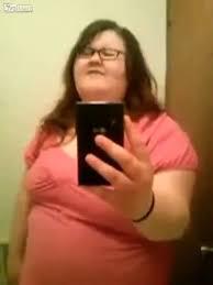 Fat girl singing and dancing