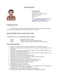 CURRICULUM VITAE SANTHOSH.P Ponutech Co. Ltd, Baraka Nuclean Power Plant,  ...