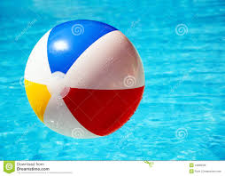 swimming pool beach ball background.  Swimming Beach Ball In Swimming Pool And Swimming Pool Ball Background O