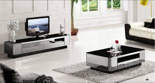 Modern Gray Mirror Modern Furniture Coffee TableTV Cabinet 2 Piece Set Grand Fashion Living room Home Set modern living room furniture cheap