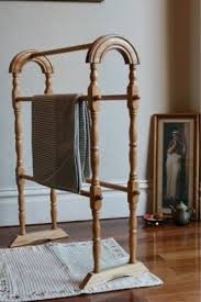 wood towel stand. Beautiful Wooden Towel Rail Rack Vintage Classic Timber Stand Can Wood O