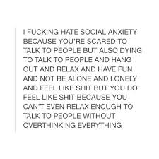 Social Anxiety Quotes Cool Basically Discovered By œ�beth✧ On We Heart It