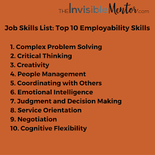 job skills list top 10 skills to thrive in the future employability skills list for 2020 get ready to thrive in the future