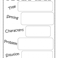 How To Write A Children S Story Template Story Map Free Printable Reading Writing Kids Ela