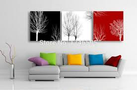 art makes a great gift for any occasion black white red tree 5  on red white wall art with big size 3pcs living room bedroom wall decor home decor abstract