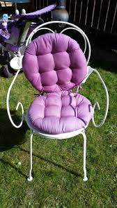 Shabby Chic Bedroom Chairs Uk Vintage Shabby Chic Style White Metal Bedroom Chair Purple