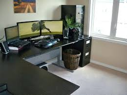 large office desk. Simple Desk Large Office Desk L Shaped Computer For Home With Black Finish  To Large Office Desk