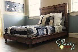 rustic platform bed. DIY Platform Bed Rustic