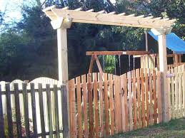 picket fence gate with arbor. Picket Fence Gates And Arbors | Arched With Gate Custom Arbor O