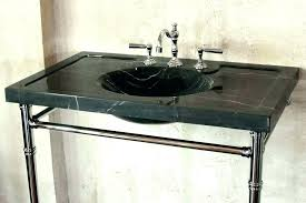 console sink with metal legs stand marble top american standard collection