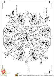 Mandala Japon élégant Coloriage Du Japon Les Sushis Hugolescargot