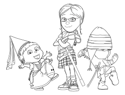 Small Picture Despicable me coloring pages agnes margo edith ColoringStar