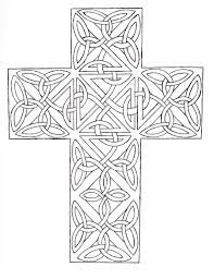 Printable Coloring Pages coloring pages of the cross : Celtic Cross With Two Tattoo Design New Cross Coloring Page ...