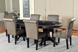 the premier table shown here with 6 leather upholstered chairs