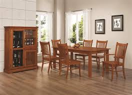 dining table hutch. marbrisa collection 100621 mission country formal dining table set hutch