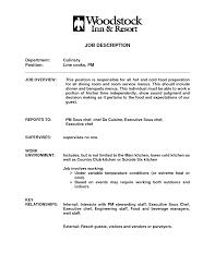 Line Cook Description For Resume Resume Template Info