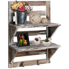 tv brackets with sky box shelf best of mygift rustic wood wall mounted organizer shelves