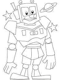 Small Picture Good Robot Coloring Page 71 For Coloring Pages for Kids Online