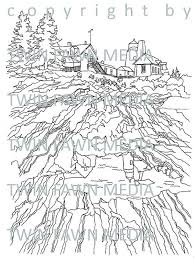 Small Picture PEMAQUID POINT LIGHTHOUSE coloring page adult coloring