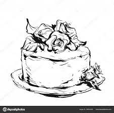 ハンド描画ベクトルかわいい誕生日または結婚式テンプレート カード