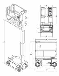 scissor lift model jlg 1230es tpl dimensional data