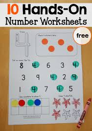 Free number worksheets 1-10 - The Measured Mom