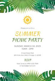 Picnic Invitation Templates Template Company Flyer Free Victoriajacobs