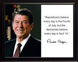 Ronald Reagan Republicans Believe Quote Autograph 8x10 Framed Photo