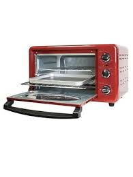 nostalgia electrics retro series convection bake toaster oven red 22 l 6 slice