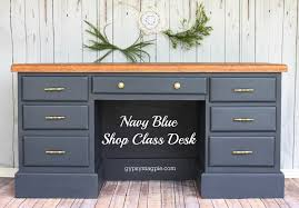 navy blue desk. Navy Blue Shop Class Desk. Makeover By Gypsy Magpie Desk A