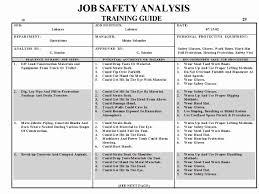 job safety analysis template job safety analysis template construction fresh job analysis