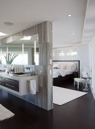 modern bedroom with bathroom. Open Wall To The Master Bedroom? Frosted Glass Looking Into Closets? Modern Bedroom With Bathroom Pinterest
