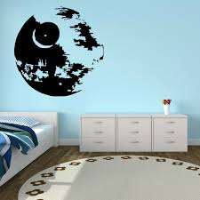 easy to apply easy to remove without leaving any sticky residue easily adhesive straight to the wall door mirror or any smooth surface you want on is vinyl wall art easy to remove with d268 star wars death star vinyl wall art sticker room decal scifi