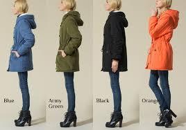 womens plus size winter long coat hooded inner