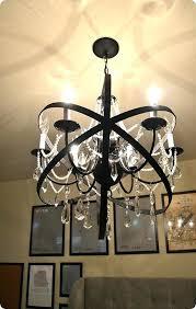 diy large chandelier home decor restoration hardware knock off orb chandelier made with a plain chandelier diy cardboard chandelier large