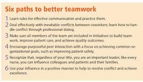 creating a nursing dream team american nurse today resolving interpersonal conflict