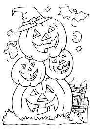 Small Picture Happy Halloween Coloring Pages Free Printable for Adults Happy