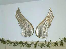 metal angel wings wall decor stars wine rack whole hobby lobby crown and wing pair of decorative silver