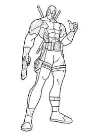 deadpool coloring pages sketch template