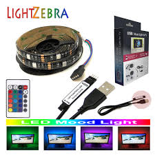 Led Mood Light Strips Us 6 9 Led Mood Light Strip For Tv Pc Monitor 200cm 60leds 5050 Rgb Strips Backlight Kit With 5v Usb Cable 24key Ir Remote Controller In Led Strips