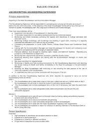 Resume Format For Housekeeping Housekeeping Cleaning Resume