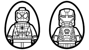 Small Picture Surprise Eggs Lego Spiderman vs Lego Iron Man Coloring Book