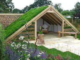 subterranean space garden backyard huts cabins sheds. Ground-gable-shed Subterranean Space Garden Backyard Huts Cabins Sheds W