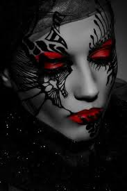 pin by tammy on its red and black for me body paint and black