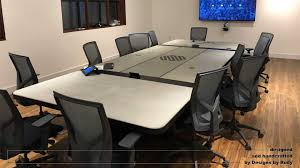 Image Wood This Is My Fifth Concrete Conference Room Table Design And First Local Fabrication It Was Partially Done In My Studio And By Weltz Custom Metal Designs Designs By Rudy Conference Room Table Concrete And Steel Design