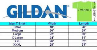 Gildan T Shirts Size Chart Rldm