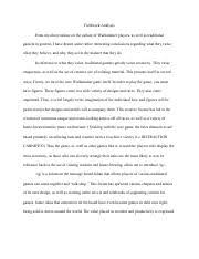 johnny got his gun essay vishnu chavva ap english johnny got his  3 pages fieldwork analysis